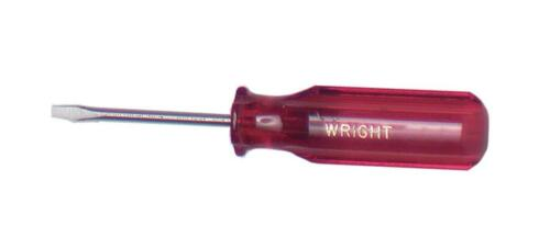 "Wright Tool 9112 1//8/"" Tip Size Cabinet Tip Screwdriver 6/"" Length"