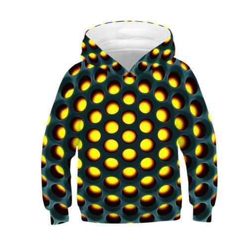 3D Print Novelty Boys Girls Creative Hoodie Pullover Kids Sweatshirt Jumper Tops