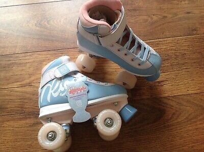 Rio Quad Roller Skates Milkshake Blue Pink NEW Retro UK Sizes 1-7 Cotton Candy