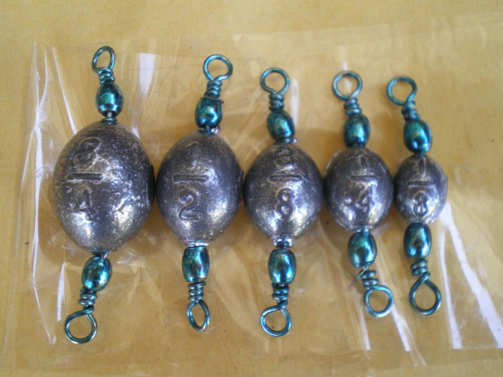 100 PCS. TURQUOISE SWIVEL EGG SINKERS  3 4,1 2,3 8,1 4,1 8 OZ. 20 EA. Q  STRIPER   top brands sell cheap
