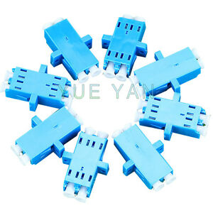10-PCS-High-Quality-Fiber-Optic-Single-Mode-LC-Duplex-Optical-Fiber-Adapter