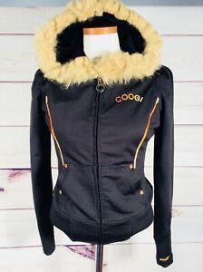 Farver Sort Hip Coogi Hood Guld Up Fur Hop Størrelse Frakke Medium Zip I Jakke qBv5t