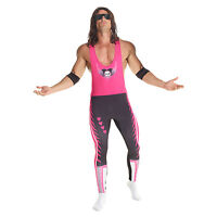 Licenced Wwe Bret `the Hitman` Hart Wrestler Fancy Dress Costume Adult Wrestling