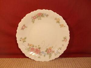 Image is loading Arcopal-Dinnerware-Rosalie-Pattern-Salad-Plate-7-3- & Arcopal Dinnerware Rosalie Pattern Salad Plate 7 3/4