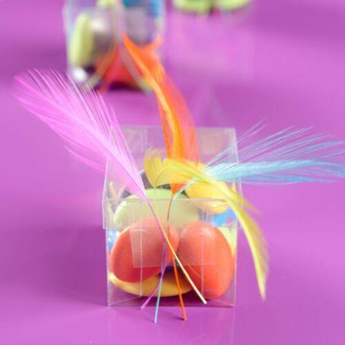15 cm plumas decoración invitado regalo stx.4090 Dekofedern 10 unidades rosa aprox