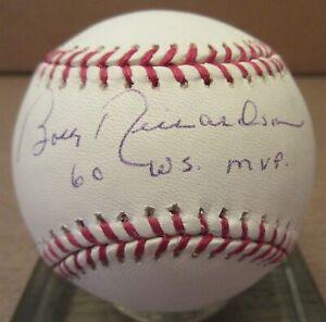 Bobby-Richardson-60-WS-MVP-Signed-ML-Baseball-PSA-DNA
