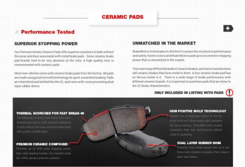 Ceramic Pads For 2007-2012 2013 2014 2015 Ford Edge MKX Front Brake Rotors
