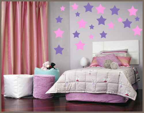 Nursery baby wall art decor 216 STARS STICKERS DECASL