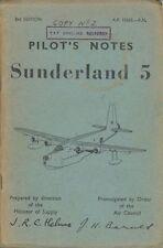 SHORT SUNDERLAND FLYING BOAT MANUAL Mark V 5 MR.5 RAF RAAF historic archive