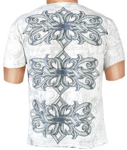 Affliction T-Shirt Short Sleeve  CHALLENGER  White S