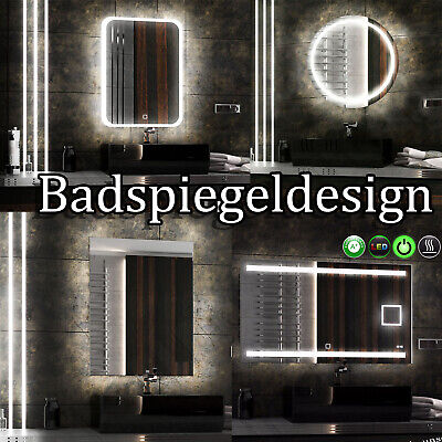 LEDISMA DESIGN LEDSPIEGEL MIT *MAKE/'UP LCD PANEL BEDSPIEGEL TOPDESIGN NEU