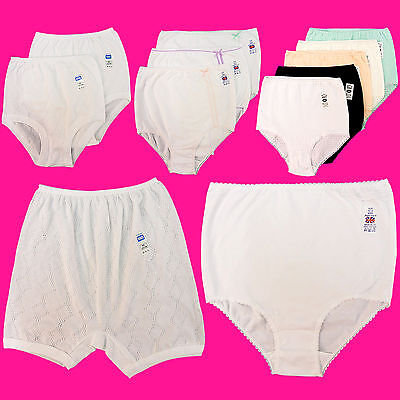 NEW WOMENS LADIES SOFT LYC COMFORT PLAIN FULL BRIEFS 100/% COTTON PLUS SIZE XXX//L