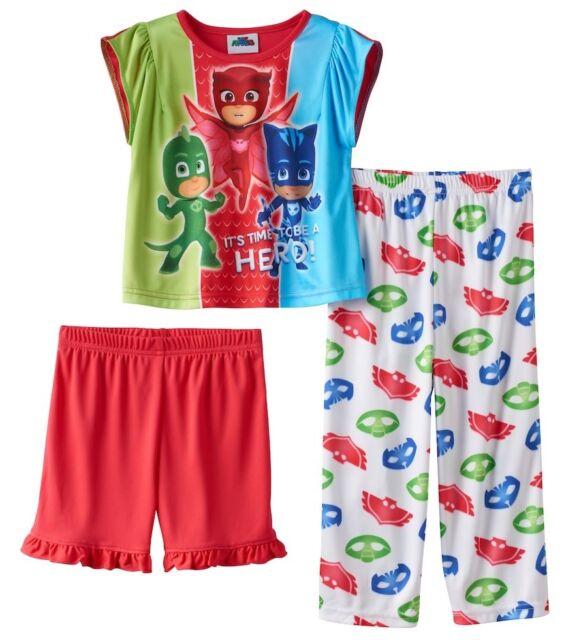 31827449cfbe Toddler Girl PJ Masks Owlette Catboy Gekko 3pc 3 Piece Pajama Set 2t ...