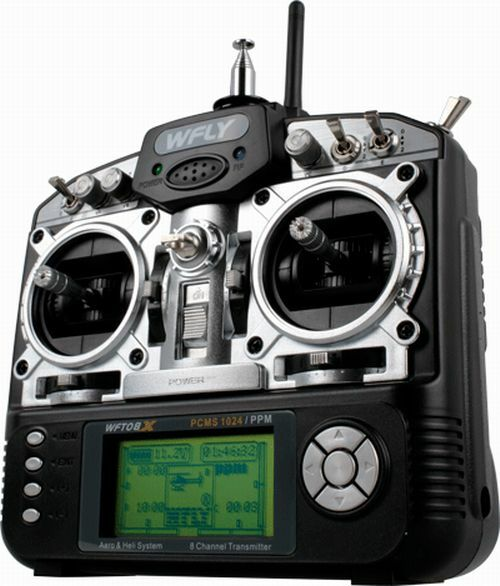 Wfly WFT08X 8CH 2.4GHz Radio System Mode 2 (Receiver Included)