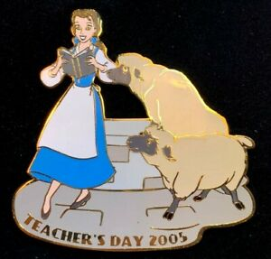 Disney Auctions JUMBO Belle Teacher's Day 2005 LE 100 Pin Mint on Card