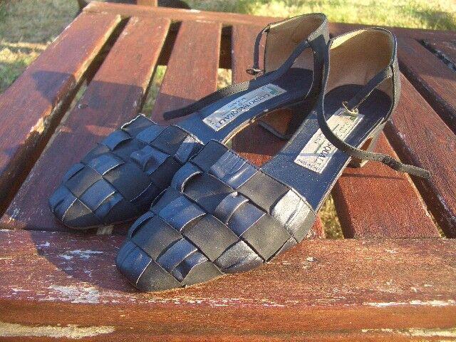 Schuhe cinturino Guido Pasquali - Milano VERA PELLE VERO CUOIO N°38
