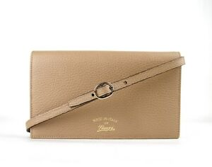 how to orders online store hot-selling real Details about Gucci Women's Tan Swing Leather Crossbody Clutch Wallet  368231 2762