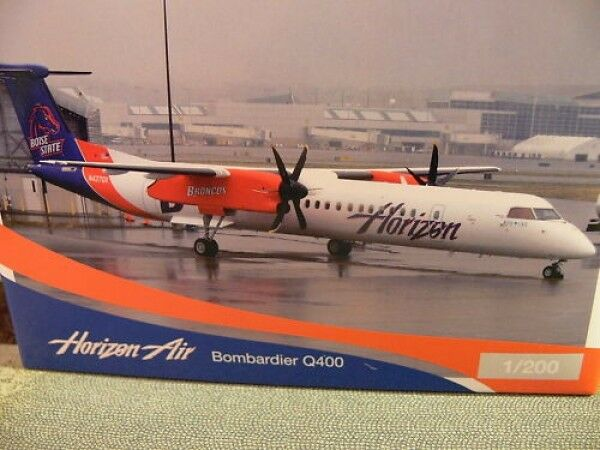 1 200 Herpa 553728 bombardier q400 Boise State broncos