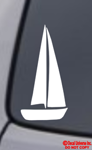 SAILBOAT Vinyl Decal Sticker Window Wall Bumper Boat Sailing Yacht Nautical Love