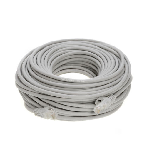 CAT6 Patch Cable GRAY Ethernet LAN Modem Wire 6ft 10ft 20ft 50ft 100ft 200ft lot