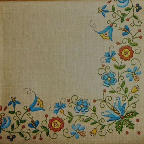4 x Single Paper NAPKINS   folklore Kashubian folk  DECOUPAGE and CRAFT 26