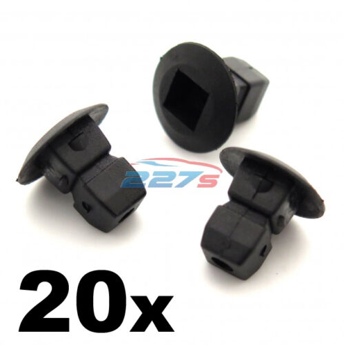 Expanding Nuts- Audi Bumper 20x Plastic Grommets Lock nuts Trim Shields etc