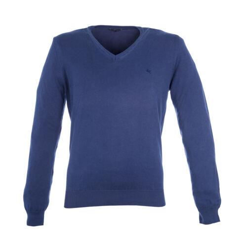 PAL ZILERI Men/'s Navy Blue Cotton V-Neck Sweater XMOF423N Sz IT 50 $415 NWT