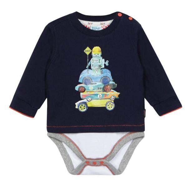 a96ef08e09393c Ted Baker Baby Boys Romper Bodysuit Robot Car Blue DESIGNER Gift Newborn  for sale online