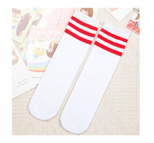 Baby Boy Girl Toddler Kids Knee High Length Cotton Stripes School Sport Socks Fz