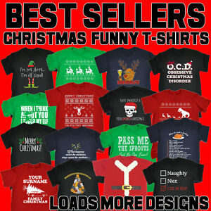 Christmas-T-Shirts-funny-novelty-t-shirts-joke-tee-jumper-mens-xmas-clothing-top