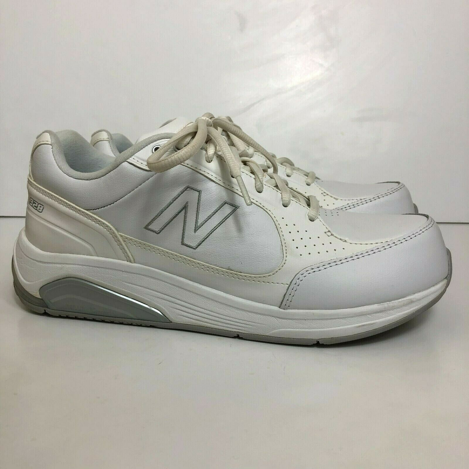 White Leather Rollbar Walking Shoes