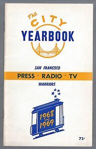 """1968-69 NBA SAN FRANCISCO WARRIORS """"THE CITY"""" MEDIA PRESS GUIDE & YEARBOOK"""