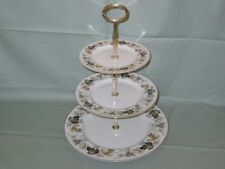 Royal Doulton Larchmont 3-Tier China Hostess Cake Plate Stand