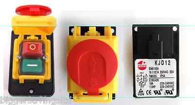 et arrêt d/'urgence 4-Pin Un Kedu KJD17 GF Start Stop Commutateur NVR 2HP//16 A