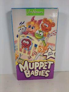 The-Muppet-Babies-034-Let-039-s-Build-034-VHS-1617-Jim-Henson-Video