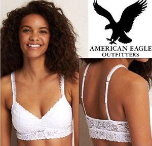 e130ab49a8a AMERICAN EAGLE AERIE LACE BRA WOMEN S SMALL WHITE - BRAND NEW