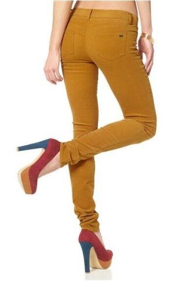 Arizona Velours Taille 42,44,46,48 Nouveau Pantalon Jaune Slim Fit Femmes Skinny Stretch L32