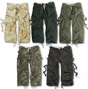 SURPLUS-ENGINEER-VINTAGE-3-4-LENGTH-COMBAT-CARGO-SHORTS-S-XXL-ARMY-MILITARY