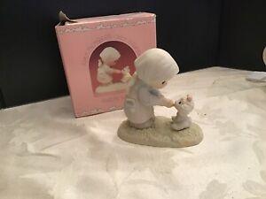 Precious Moments Figurine pm871 ln box Feed My Sheep