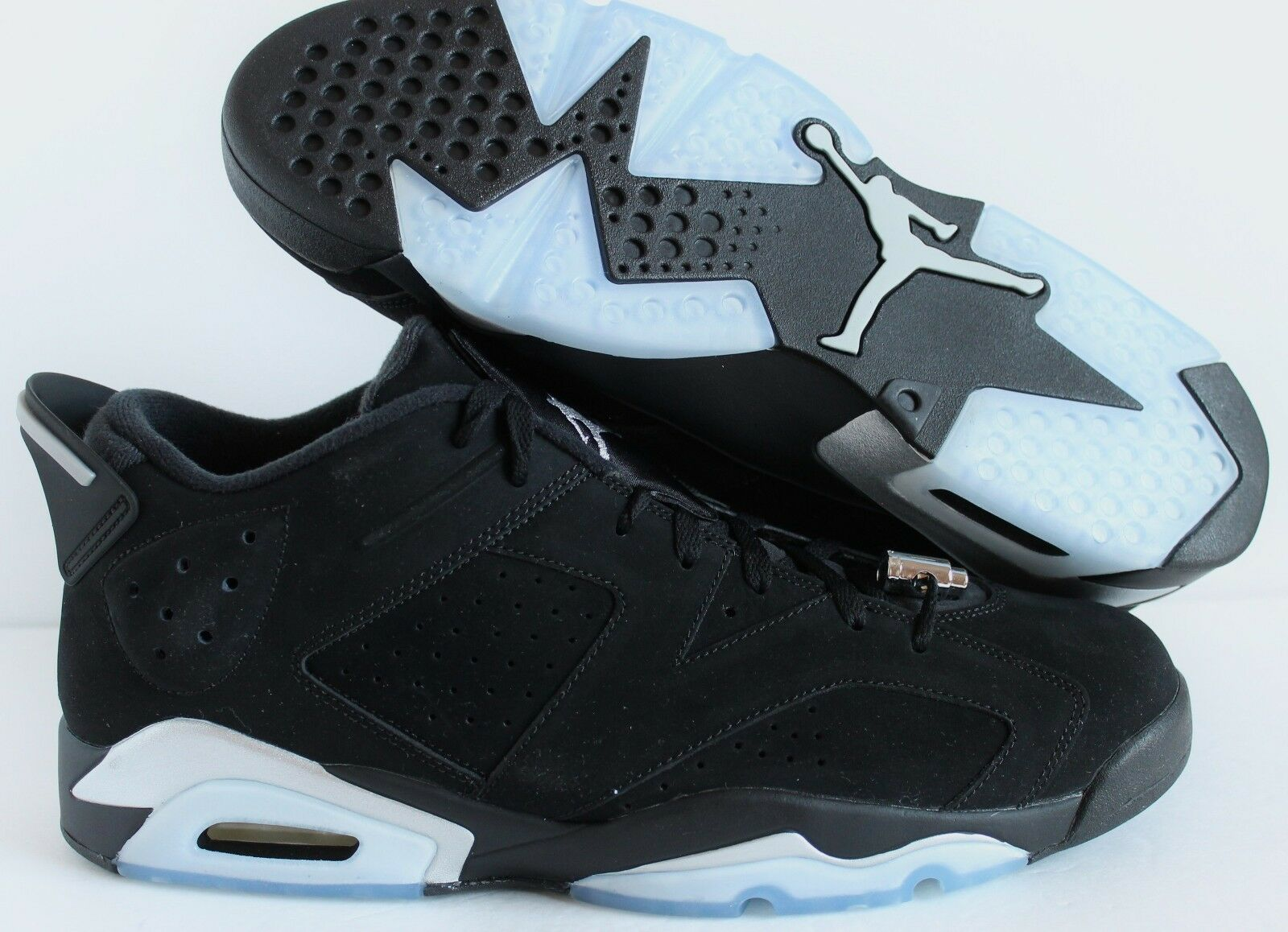 Nike Air Jordan 6 Retro [304401-003] Bajo Negro-Plateado Metálico-Blanco [304401-003] Retro 7fdcbe