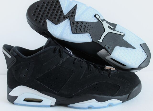 save off d4488 356da 2015 Nike Air Jordan VI 6 Retro Low Chrome Black Silver White 304401-003 13