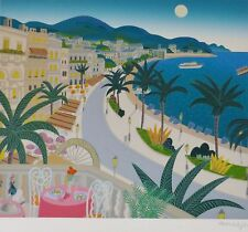 THOMAS McKNIGHT  Voyages to Paradise RIVIERA HAND SIGNED Orig Serigraph 1992