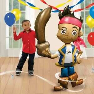 Jake-amp-The-Neverland-Pirates-AirWalkers-Foil-Balloons-Birthday-Party-Decoration