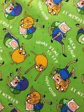 Cartoon Network Adventure Time Finn Jake Bro Hug 100% cotton fabric by the yard