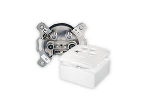 4 loch twin 4 fach antennendose digital sat kabel dose aufputz unterputz hd 3d ebay. Black Bedroom Furniture Sets. Home Design Ideas
