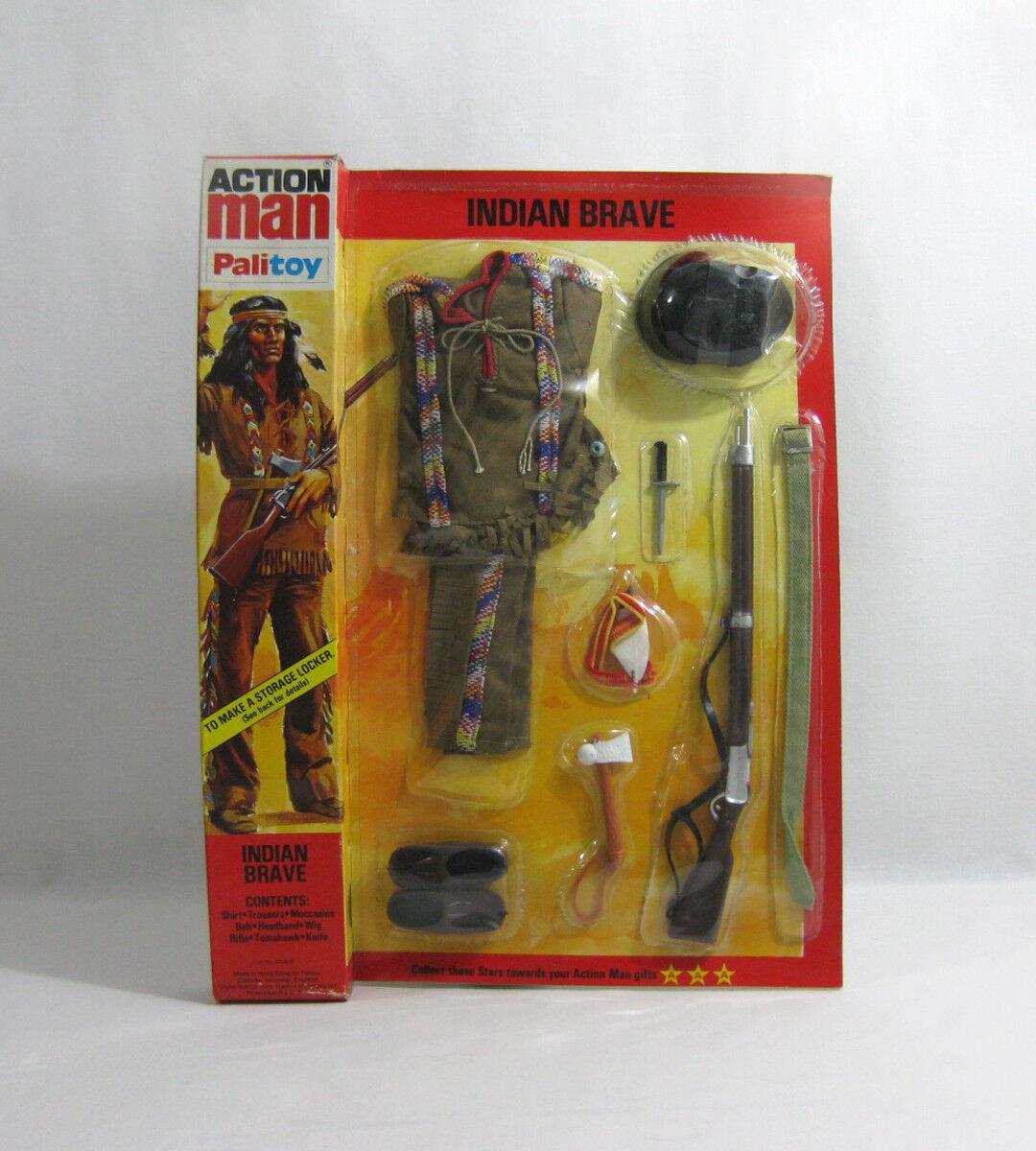 NEW 1977-78 Action Man ✧ Indian Brave ✧ Vintage G.I Joe Outfit MOC