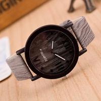 Women Men Vintage Wooden Wood Grain Watches Fashion Quartz Watch Wristwatch