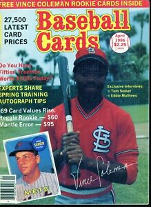 Apr-1986-Baseball-Cards-Magazine-with-2-insert-cards-2-Vince-Coleman-Rookies