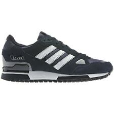 the best attitude 229ae 7ad3a ADIDAS ORIGINALS ZX 750 MENS RUNNING TRAINERS BLUE BLACK NAVY SNEAKERS SHOES  NEW