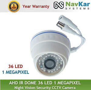AHD-IR-DOME-36-LED-1-MEGAPIXEL-1-YR-WARRANTY-Night-Vision-Security-CCTV-Camera